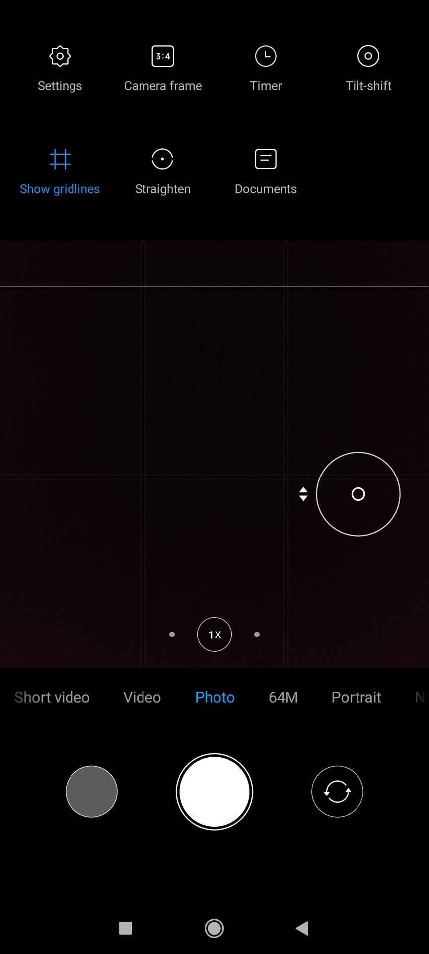 Poco F2 Pro camera app Photo mode with options