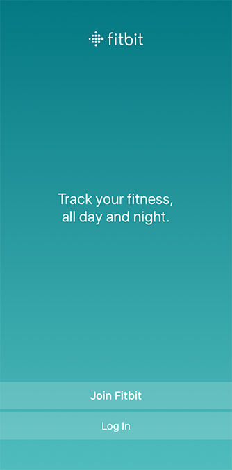 Sign up fitbit iPhone