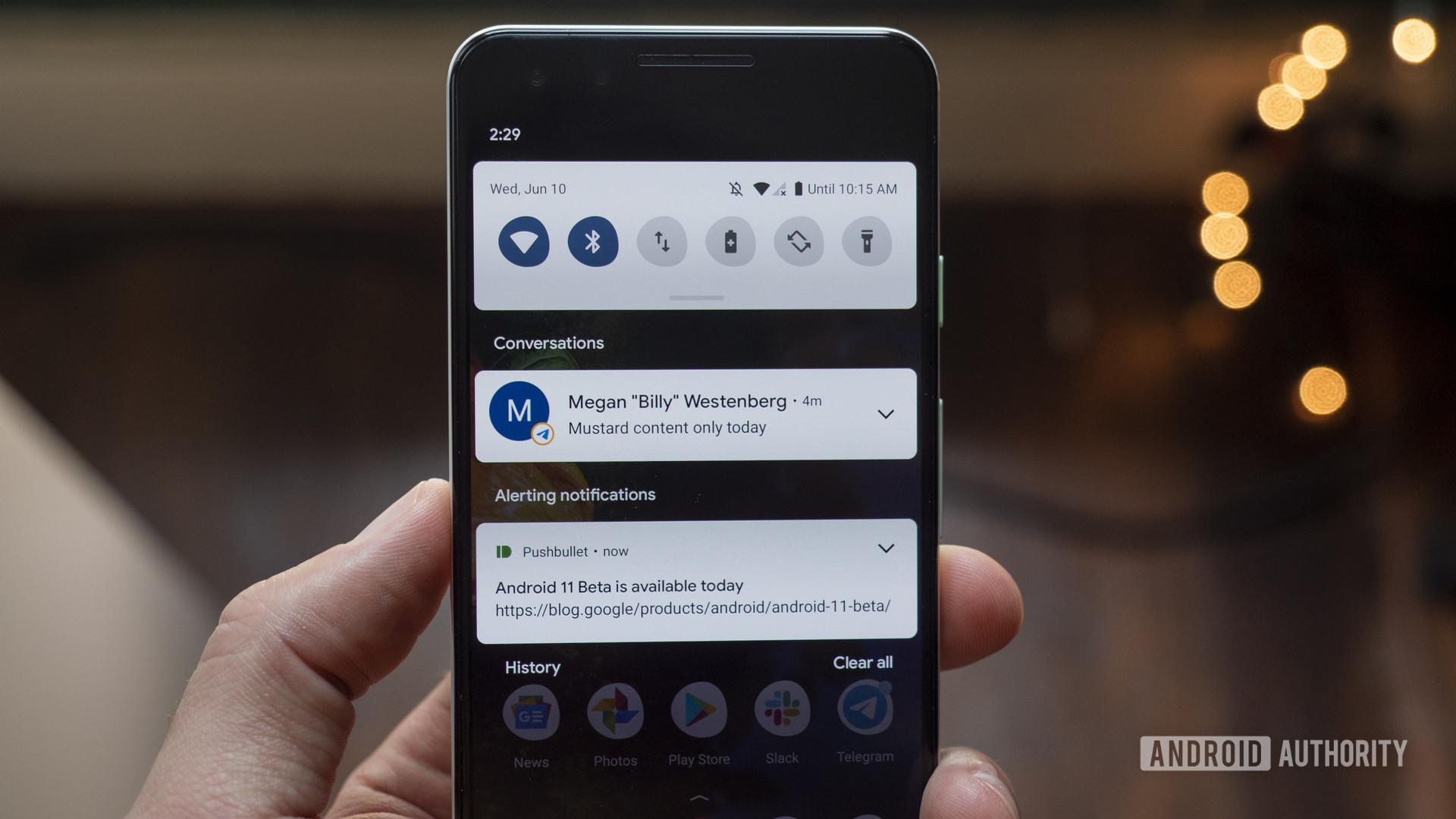 android 11 beta priority conversations telegram pushbullet 2