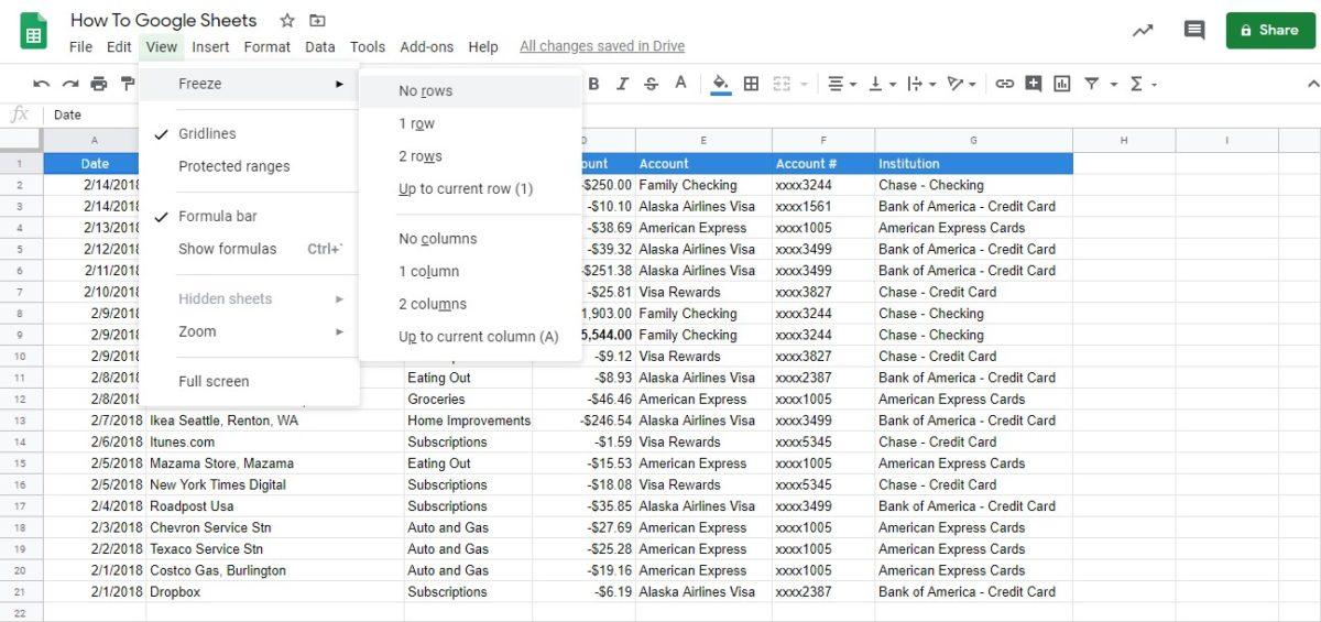 freeze row google sheets 6
