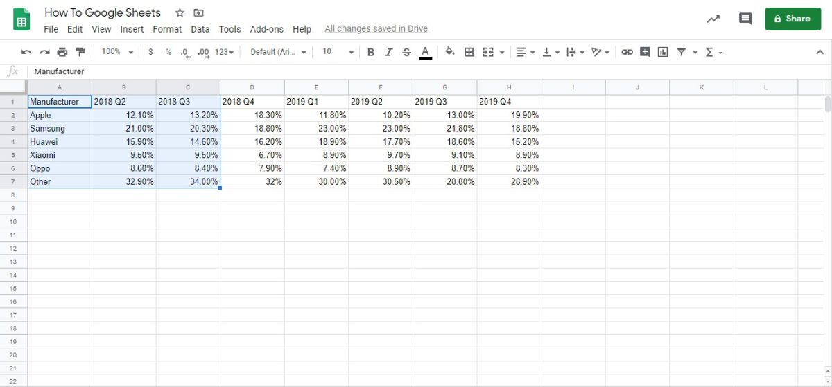 graph in google sheets 1