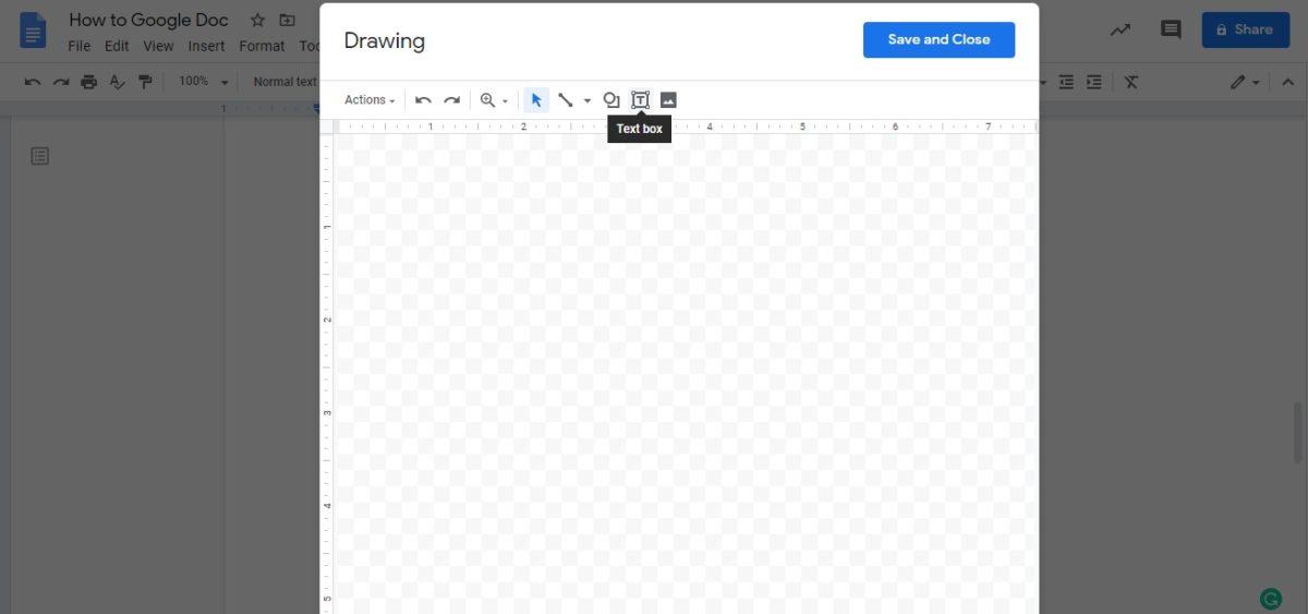 insert text box google docs 2