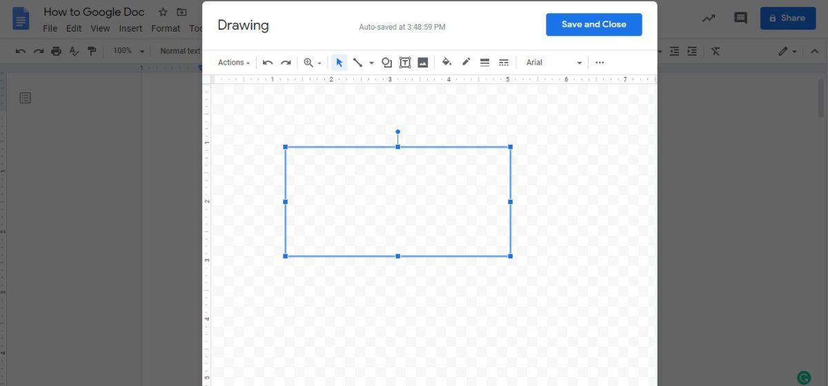 insert text box google docs 3
