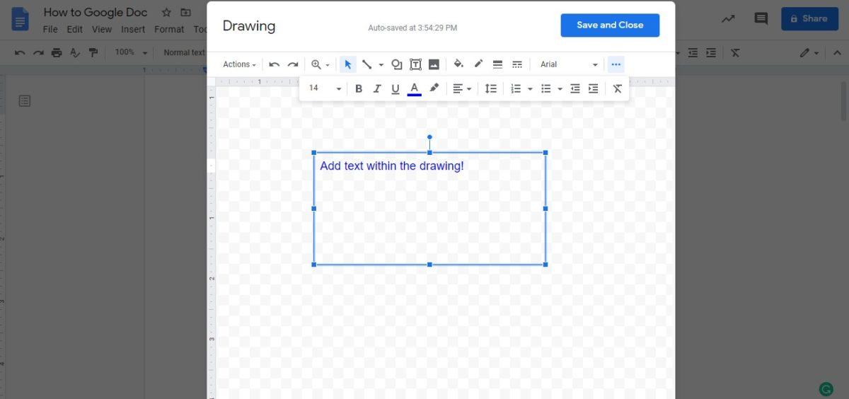 insert text box google docs 4