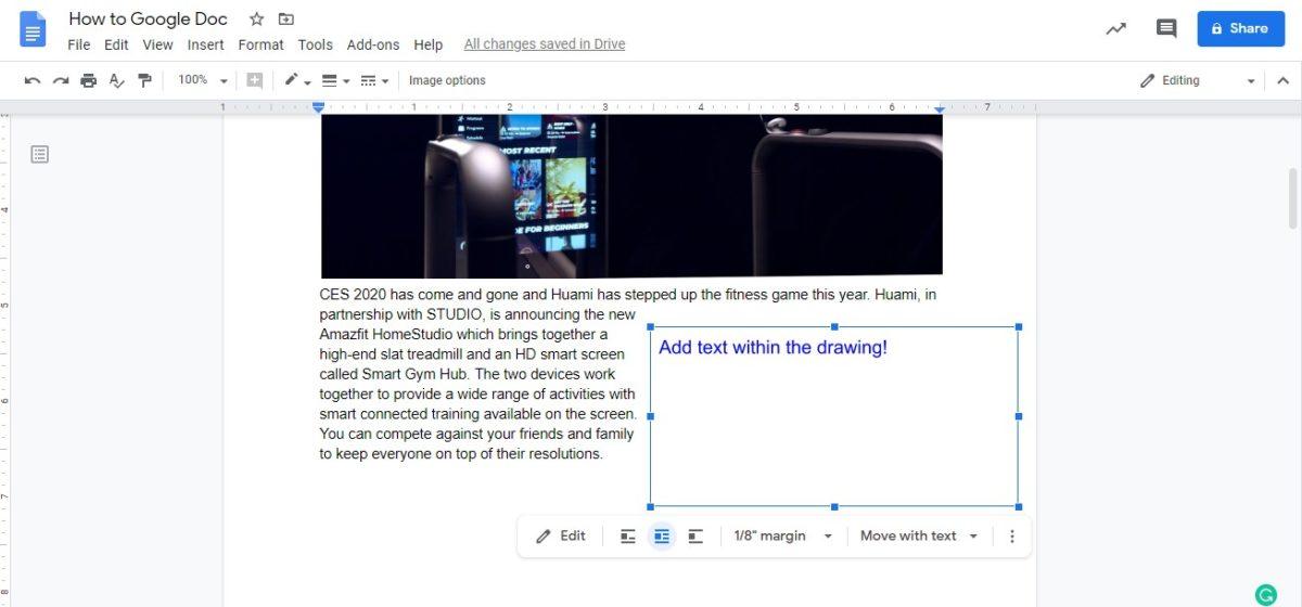 insert text box google docs 5