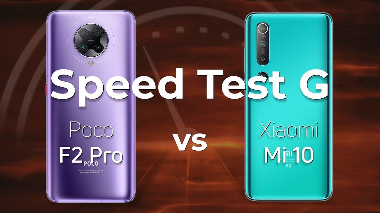 poco f2 pro vs xiaomi mi 10 speed test g