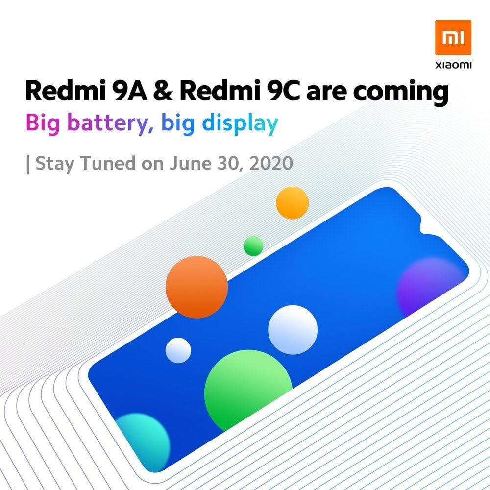 The Xiaomi Redmi 9A and Redmi 9C are coming.
