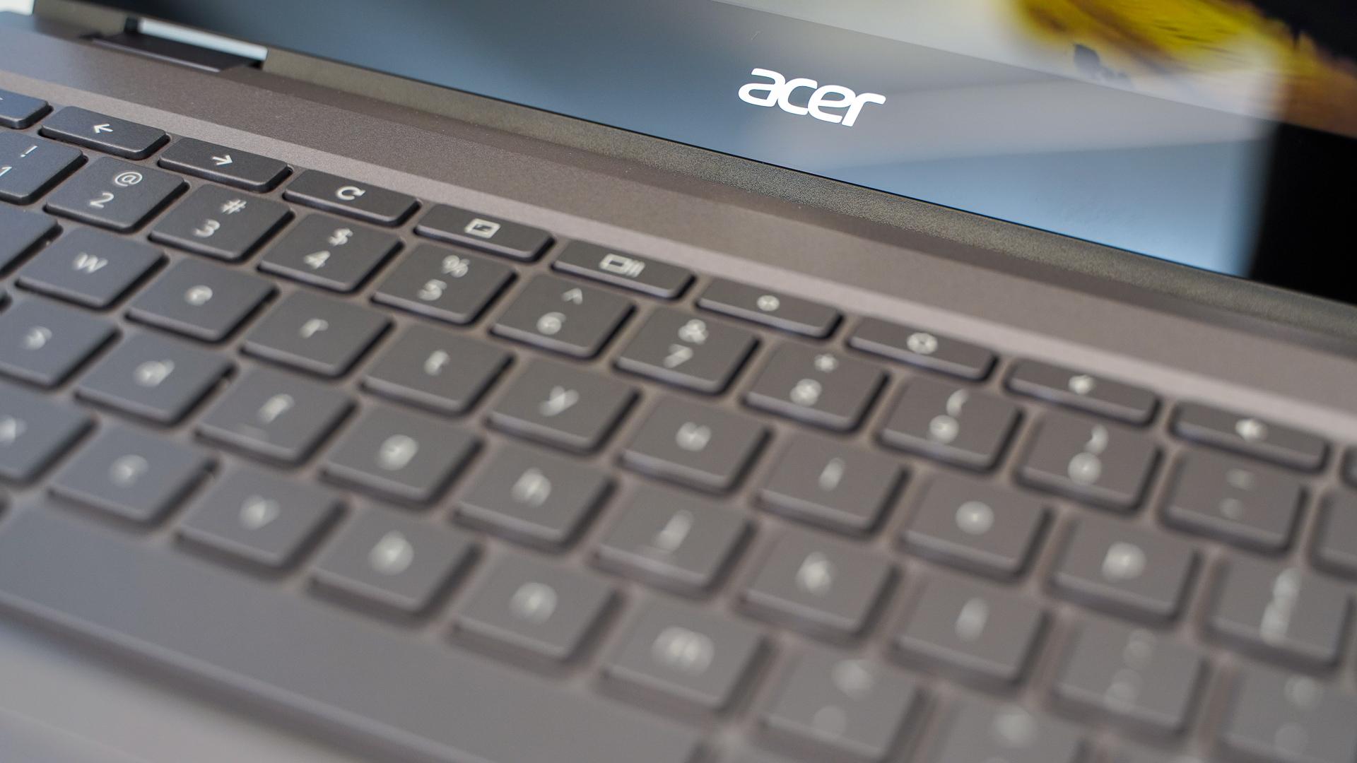 Acer Chromebook Spin 713 keyboard closeup