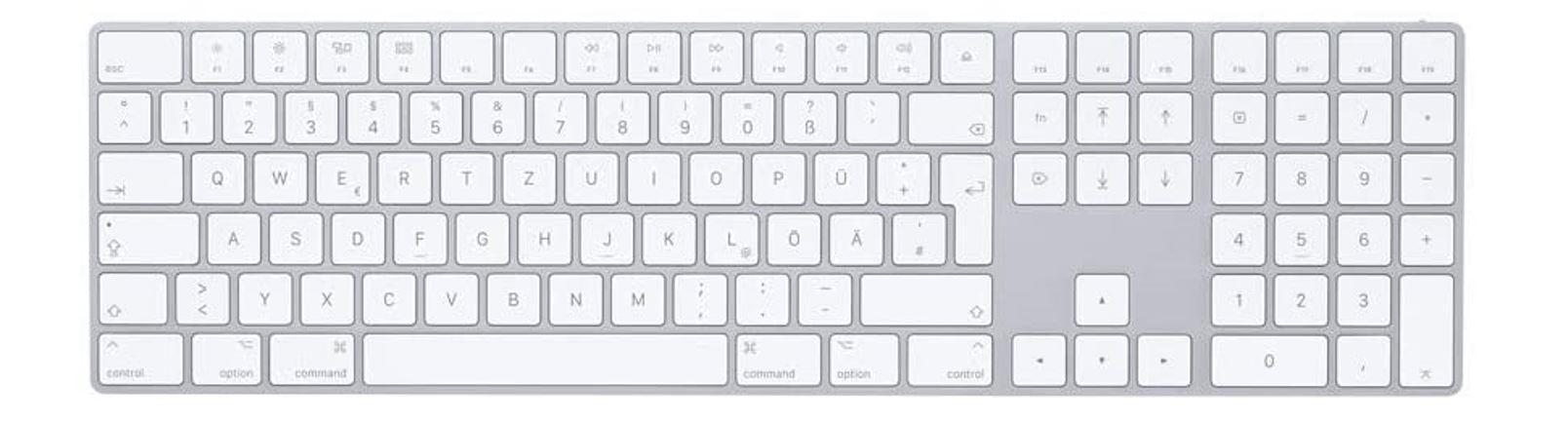 Apple Magic Keyboard with Numeric Keypad Press Image