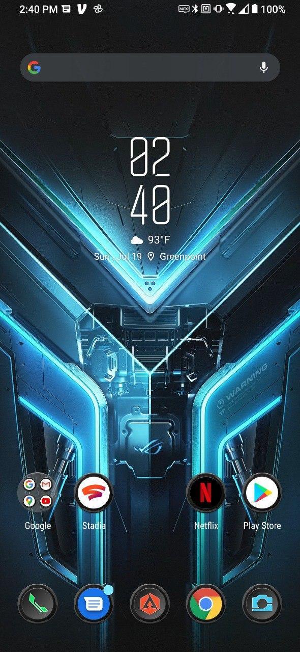 Asus ROG Phone 3 Apex Galactic Armor theme