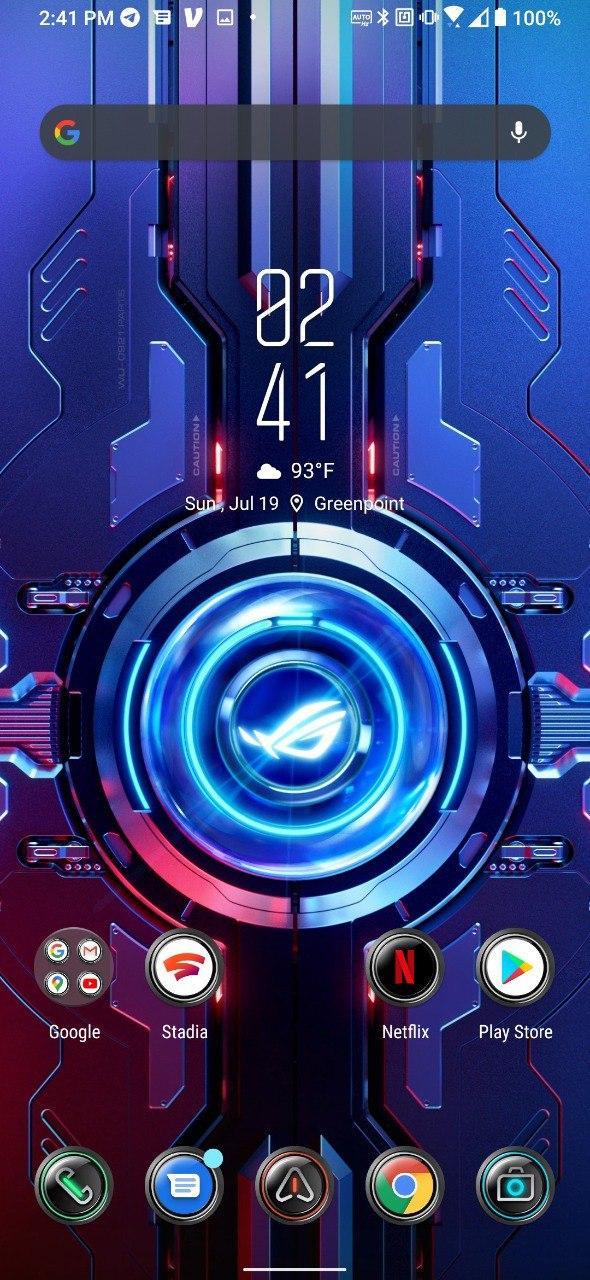 Asus ROG Phone 3 Quantum Infinity Core theme