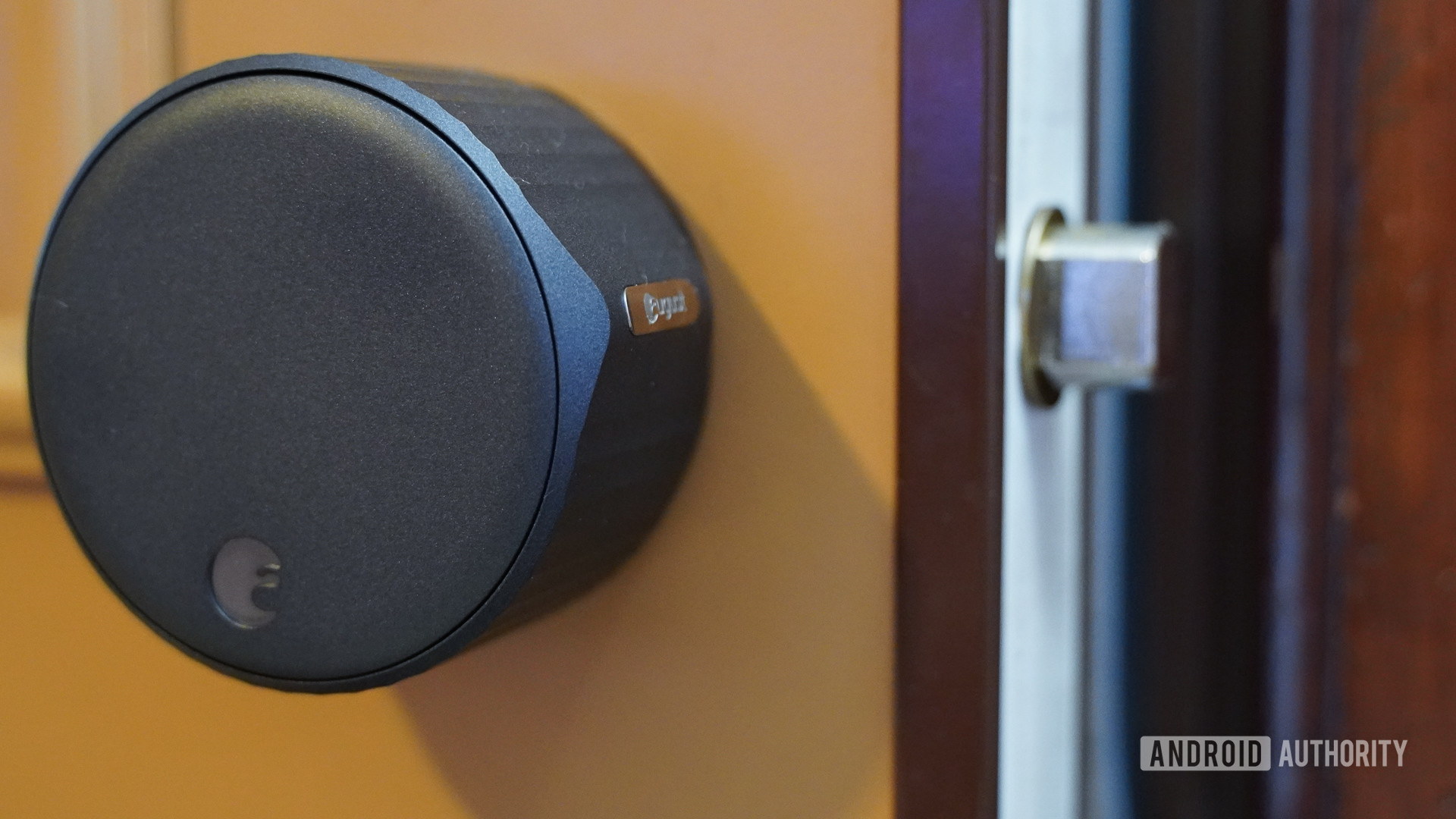 August smart lock assembled view with bolt