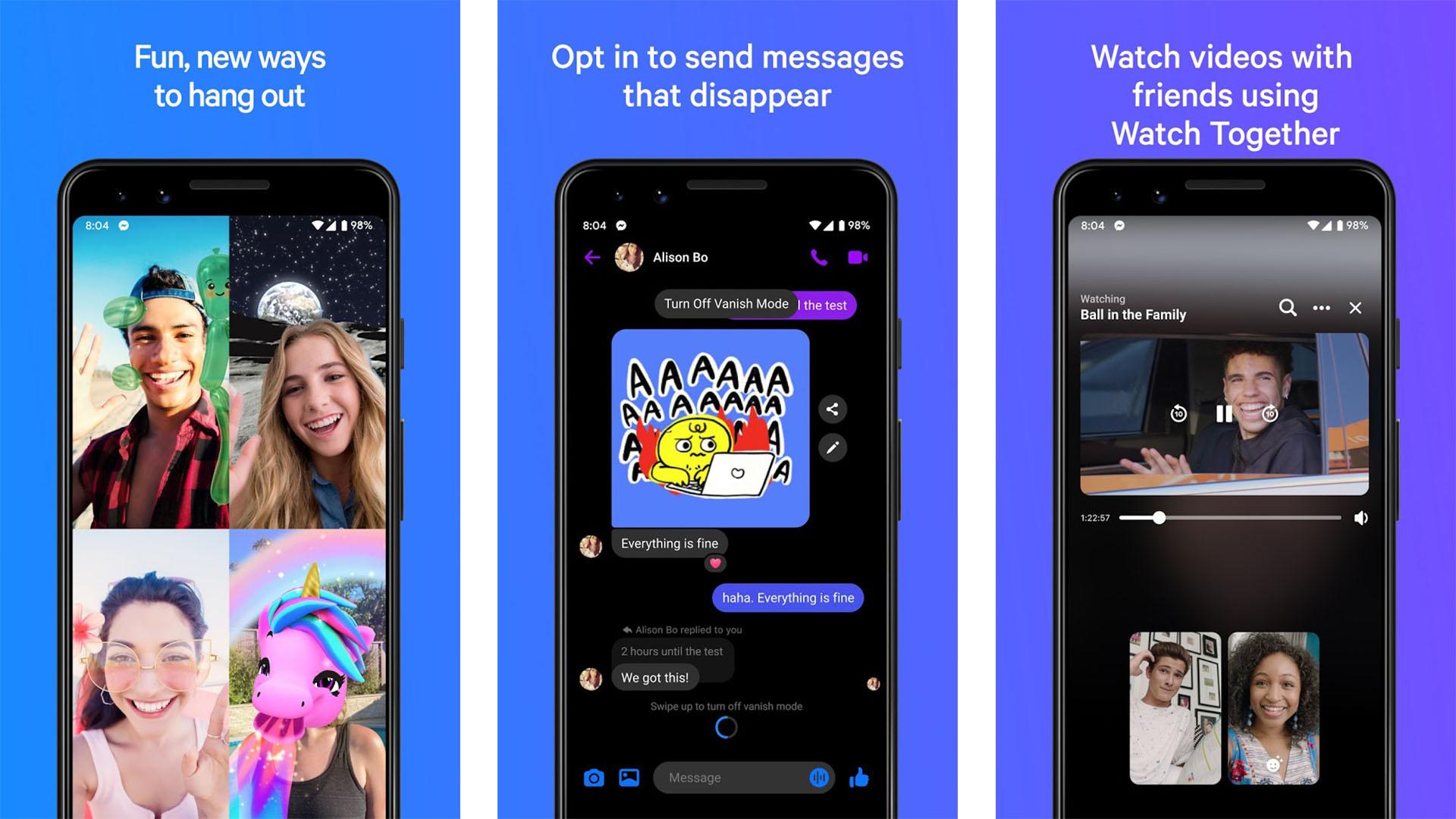 Facebook Messenger screenshot 2020