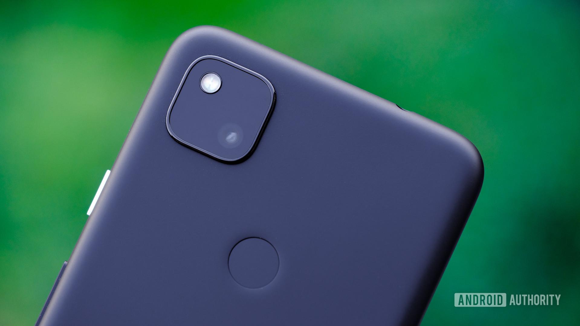 Google Pixel 4a back camera and fingerprint macro