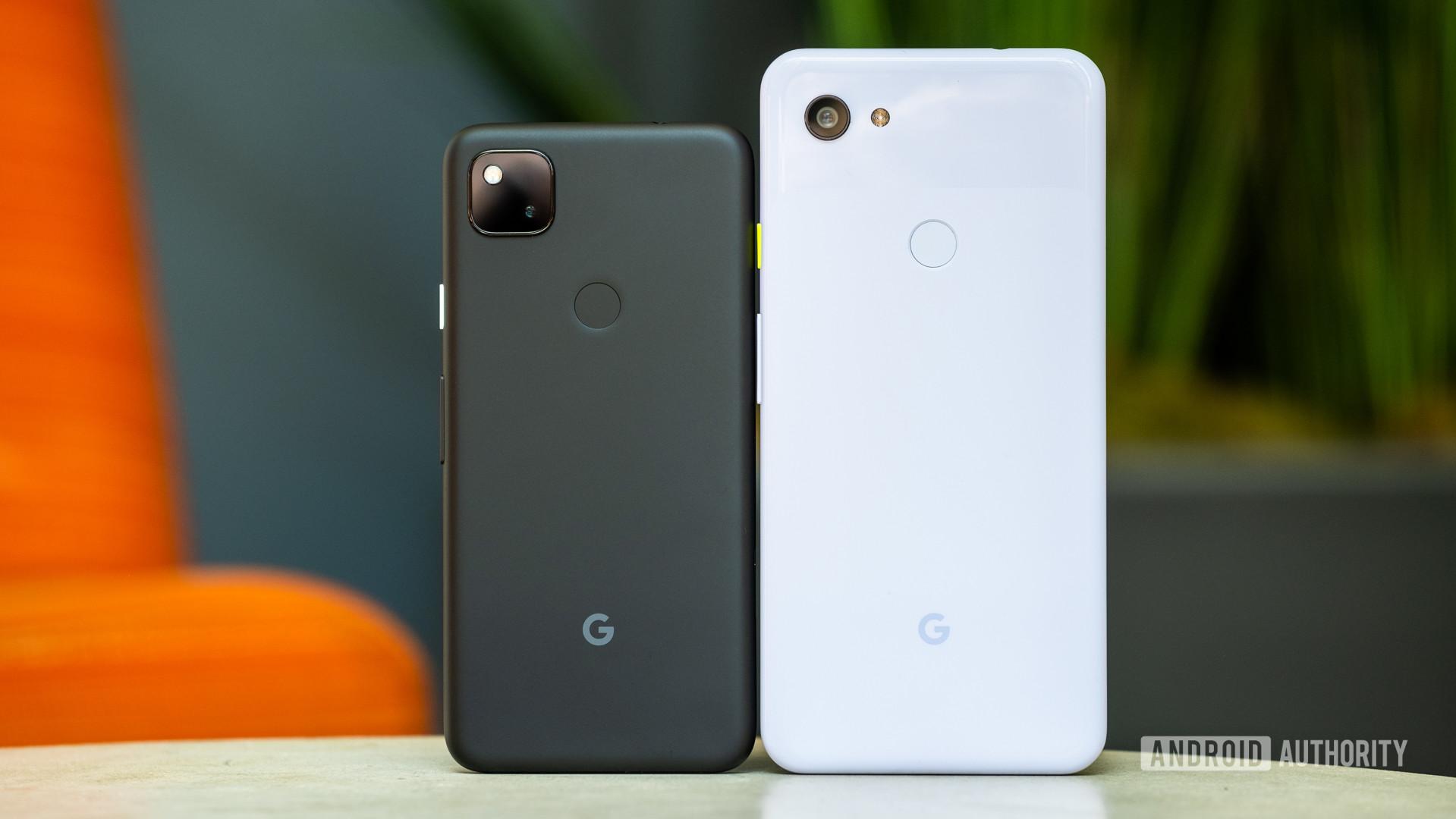 Google Pixel 4a vs Google Pixel 3a backs 1