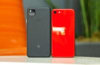 Google Pixel 4a vs iPhone SE 2020 backs 2