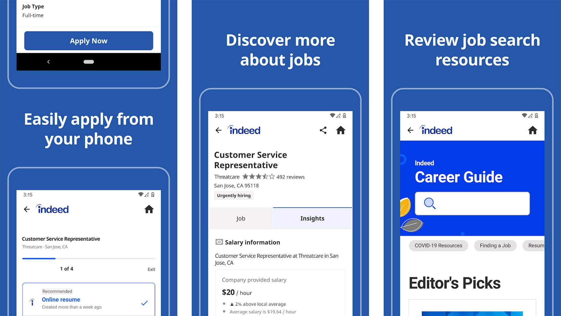 Indeed Job Search screenshot 2021
