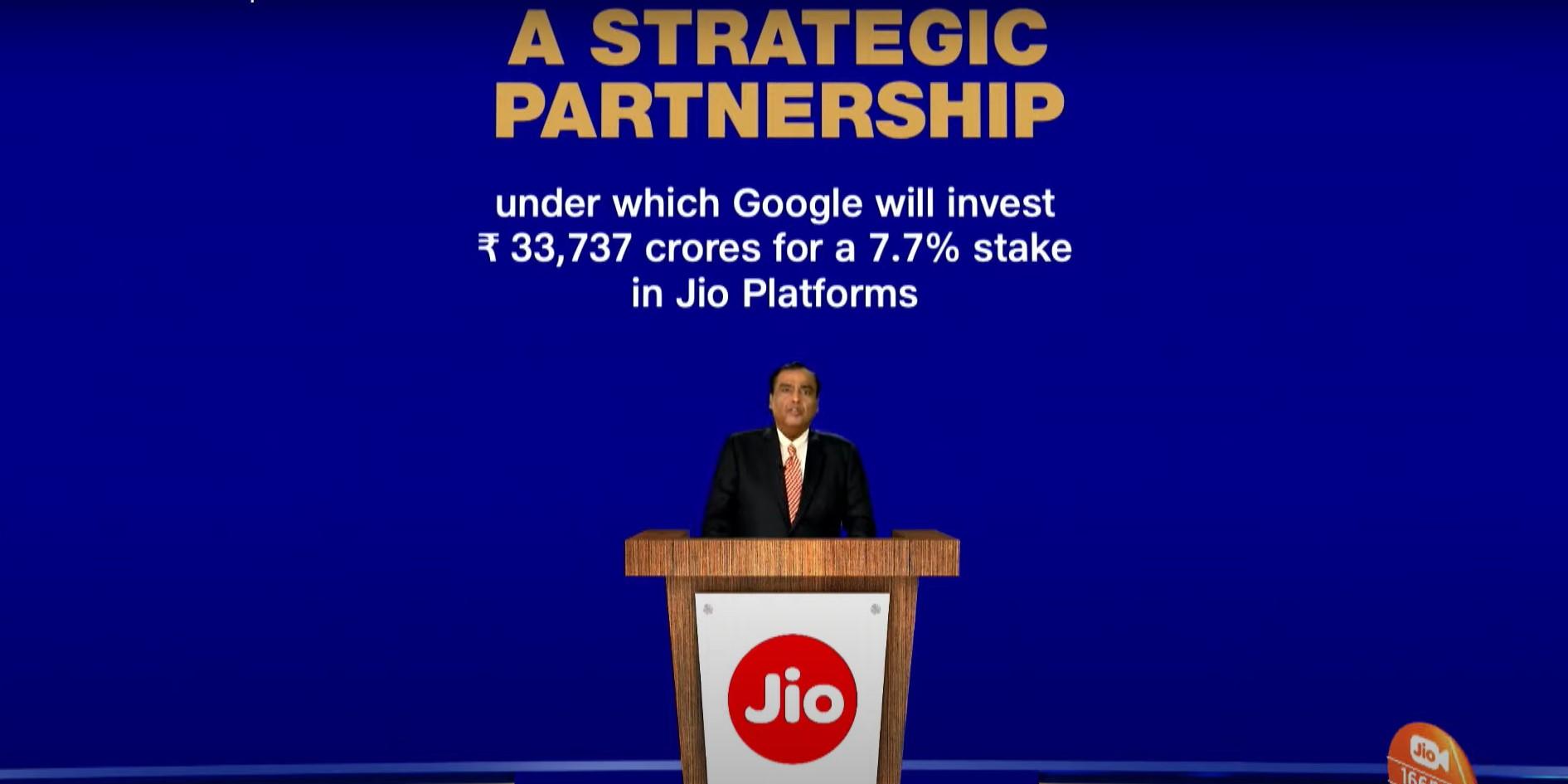 Jio Google Partnership
