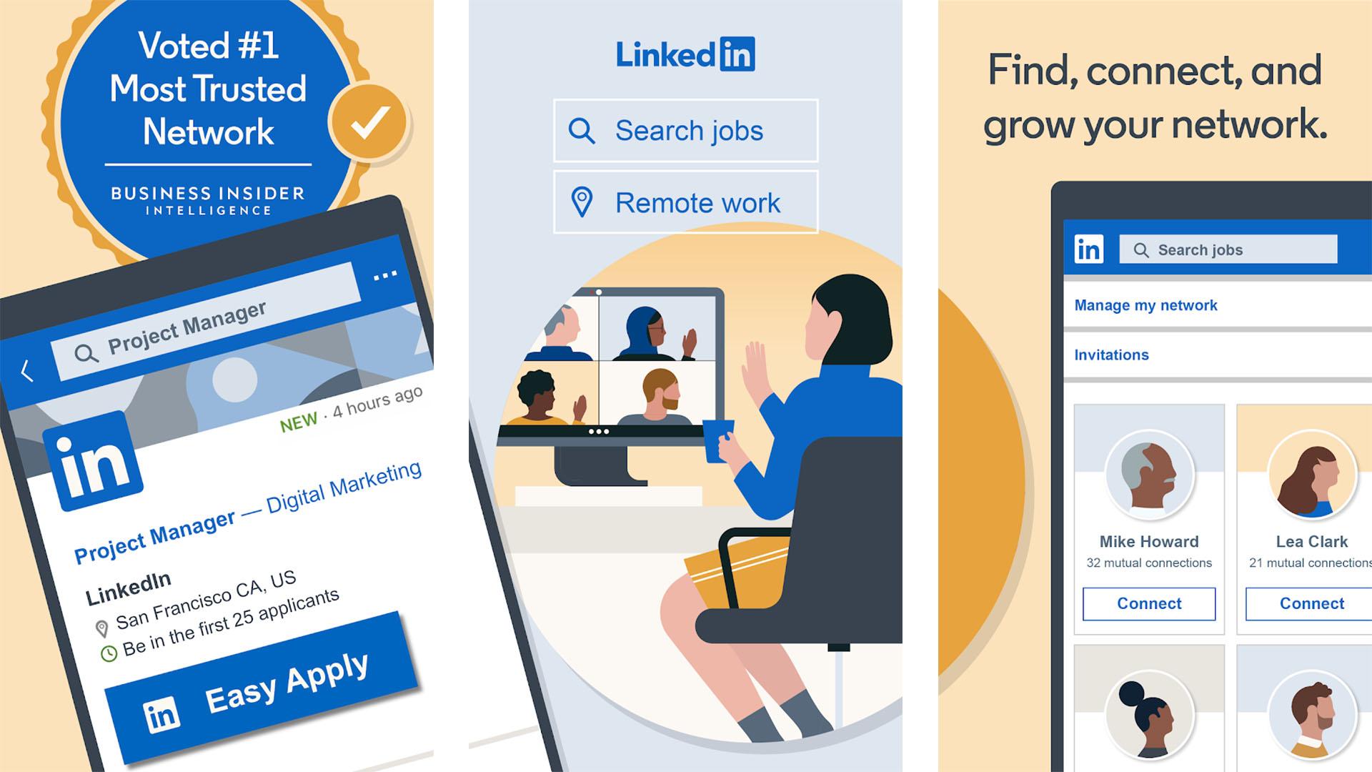 LinkedIn screenshot 2021