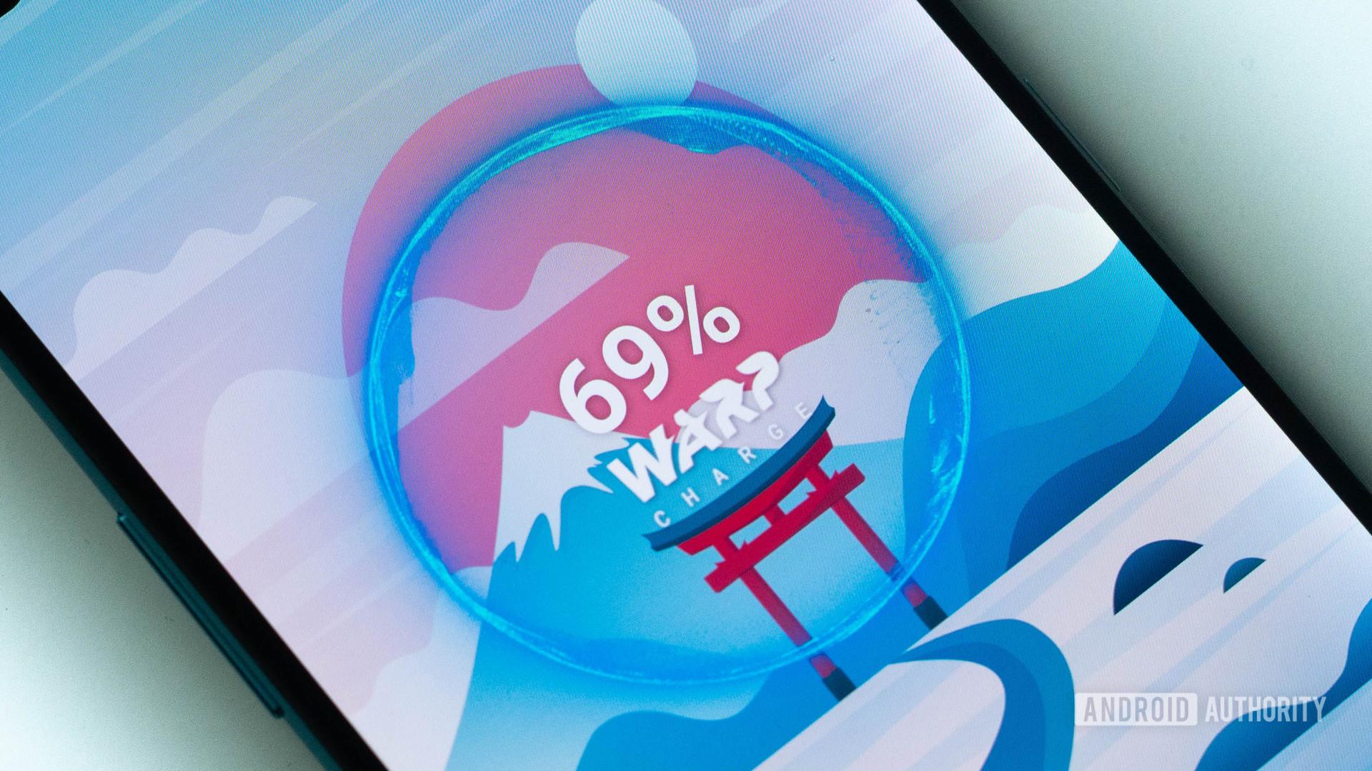 OnePlus Nord charging logo warp charge