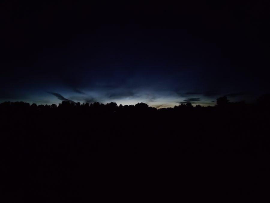 一加北测试图像夜景拍摄的地平线,超宽