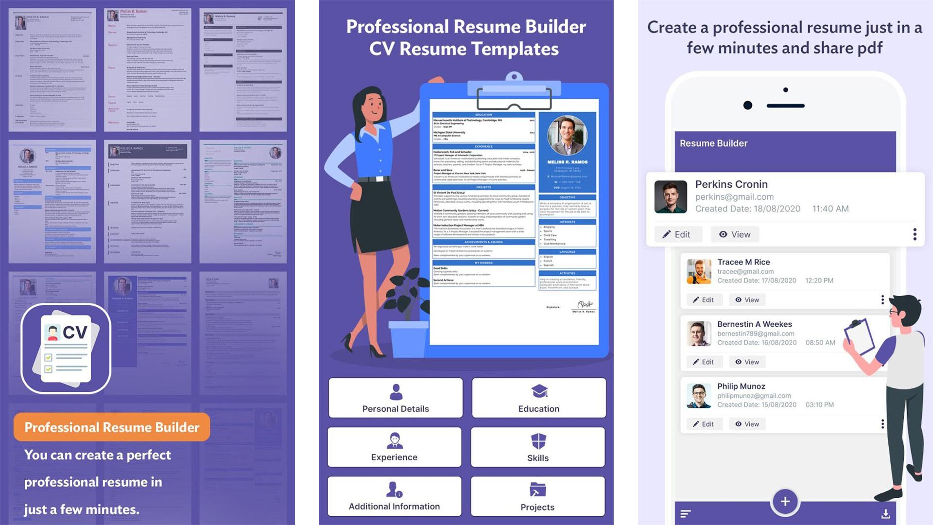 Professional Resume Builder screenshot 2021