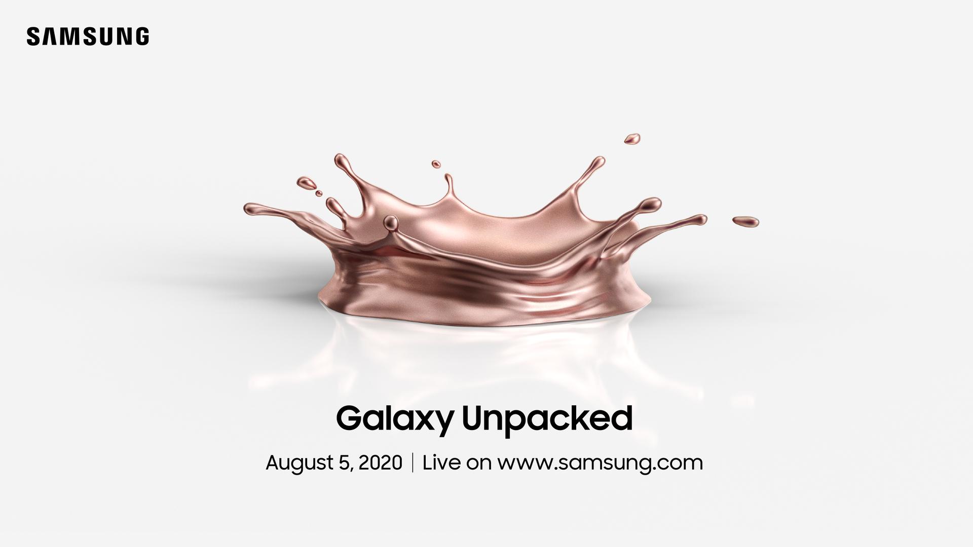 Samsung 2020 Unpacked Invitation