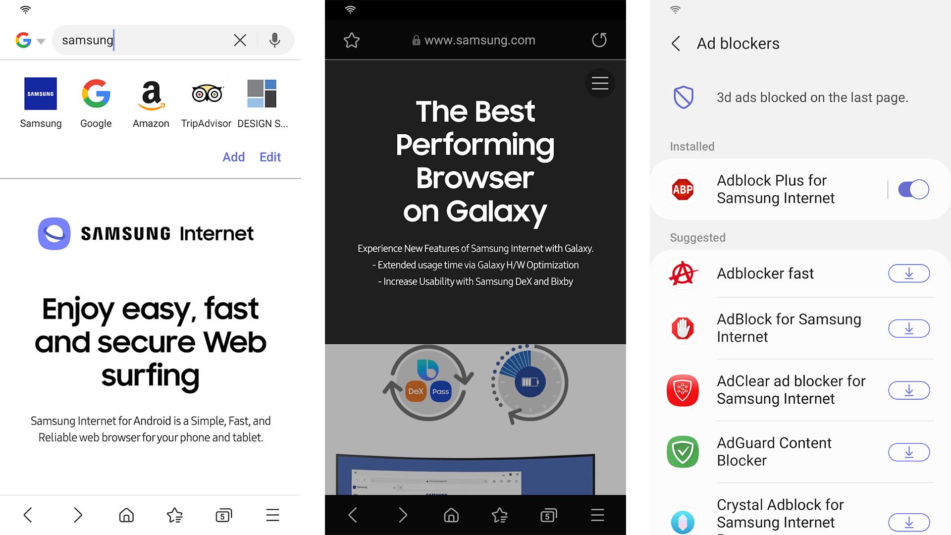Samsung Internet Browser screenshot 2021