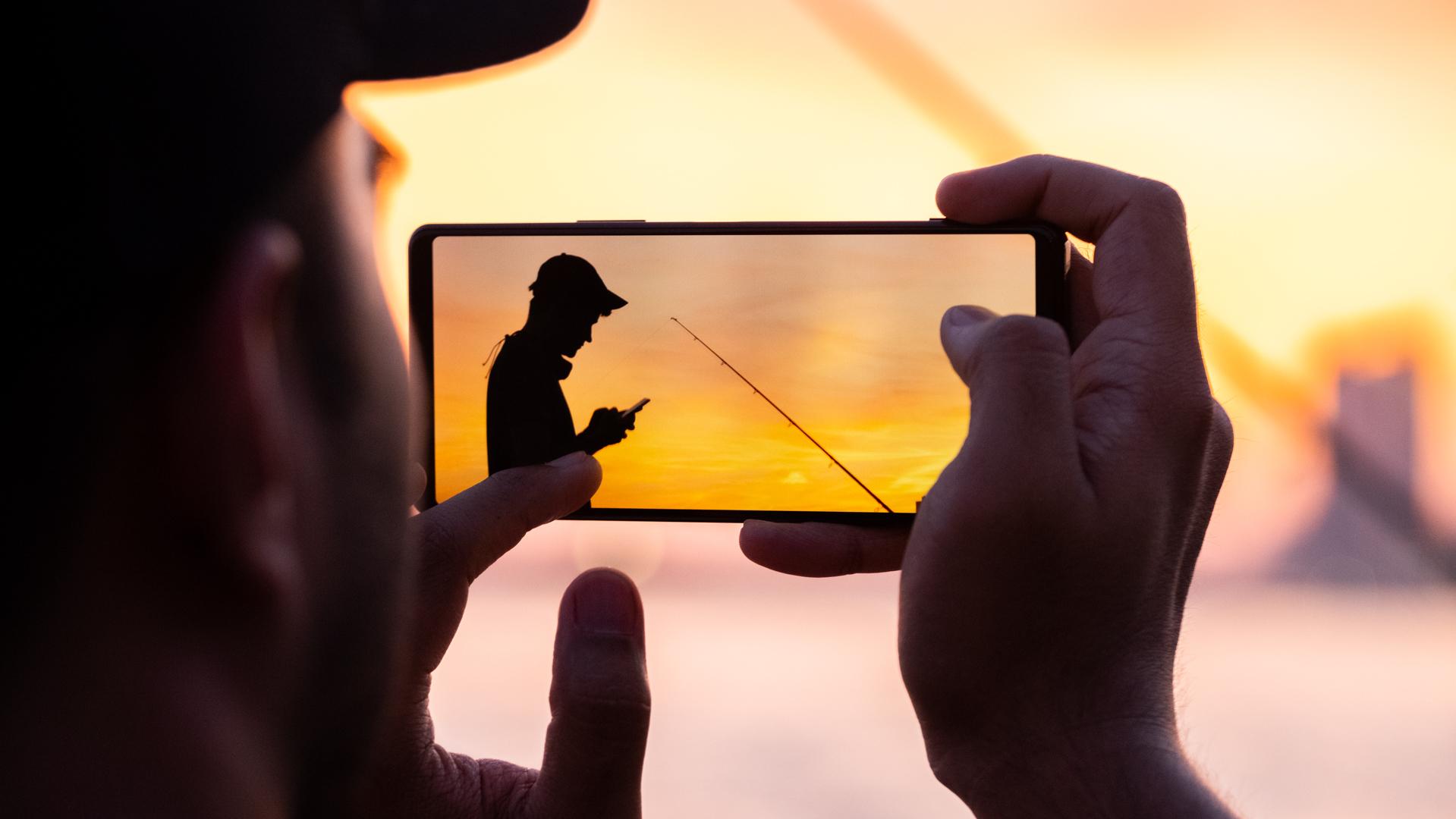 Sony Xperia 1 II taking a photo