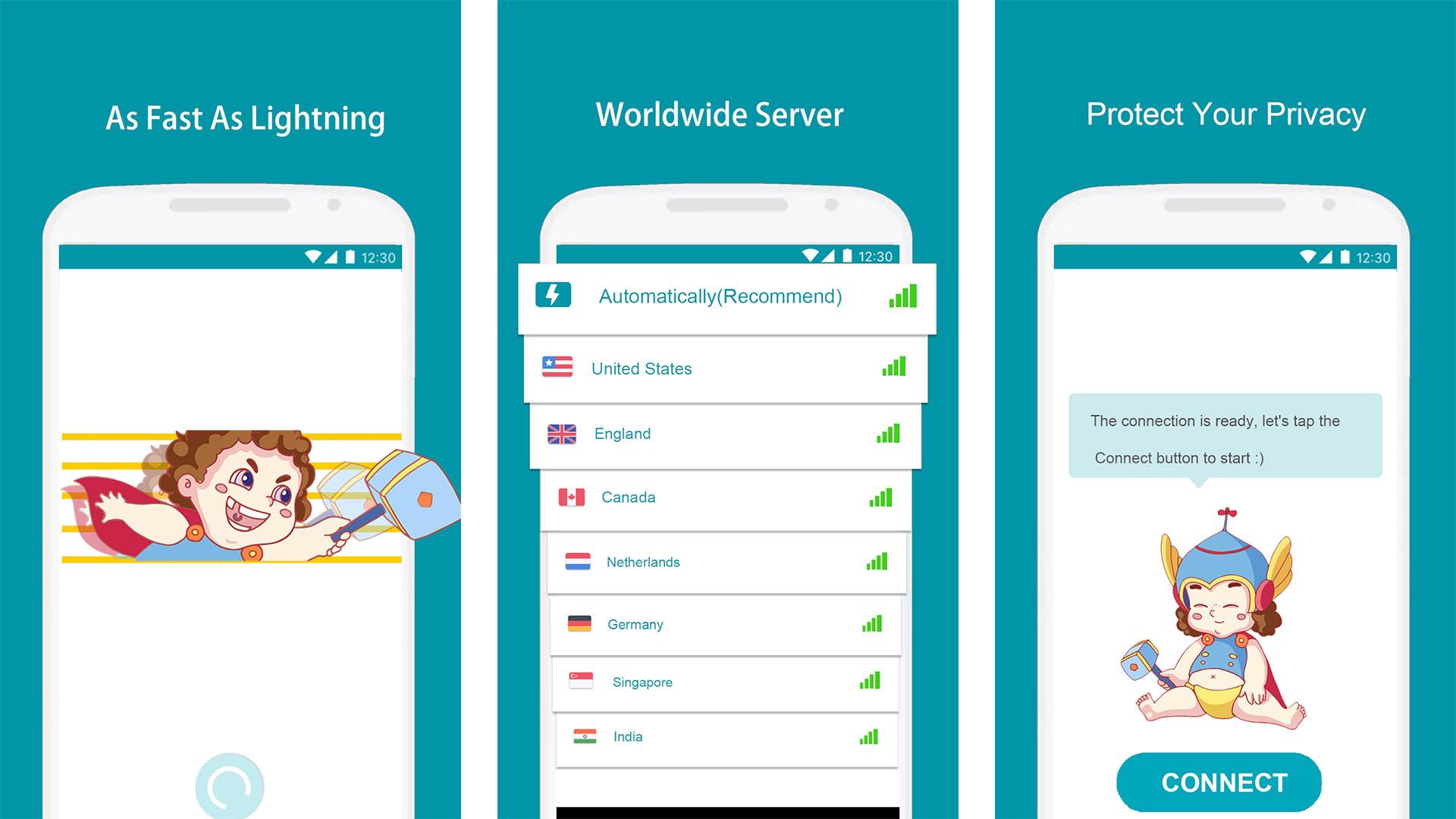 Thunder VPN screenshot 2021