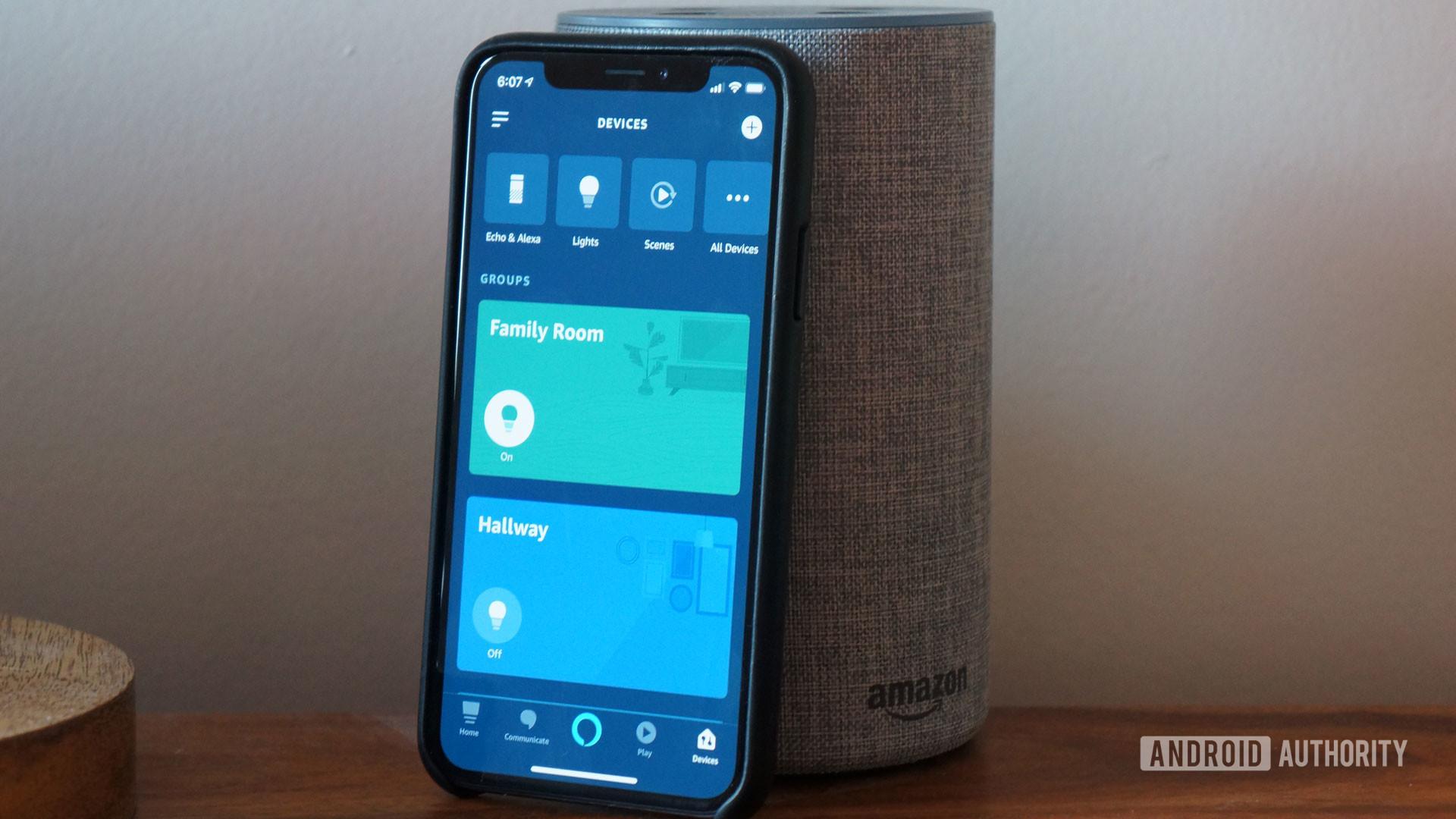 amazon echo speaker alexa iPhone app