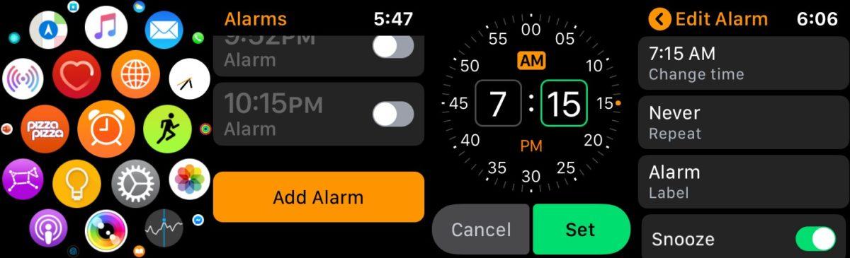 apple watch alarm