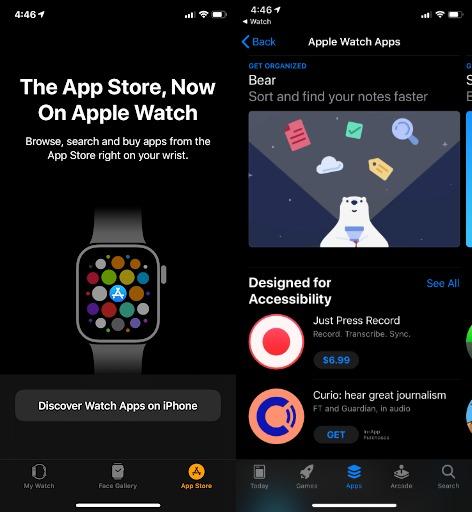 apple watch iphone apps