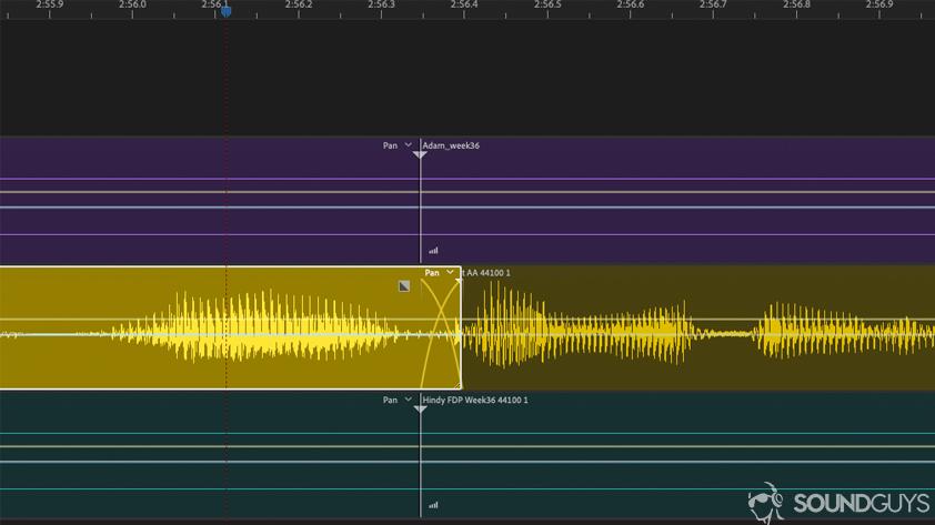editar sua voz crossfade - fazer um toque de telefone
