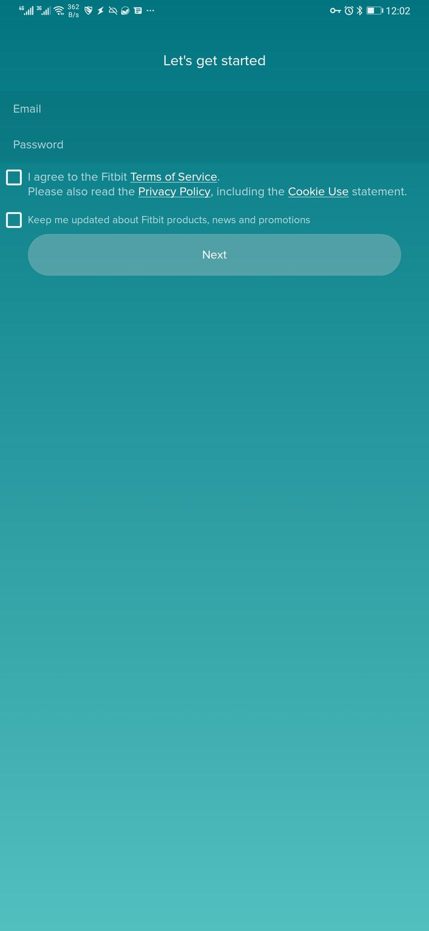 fitbit app new account