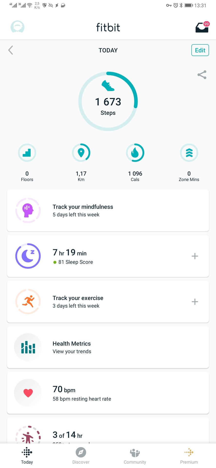 fitbit app stats
