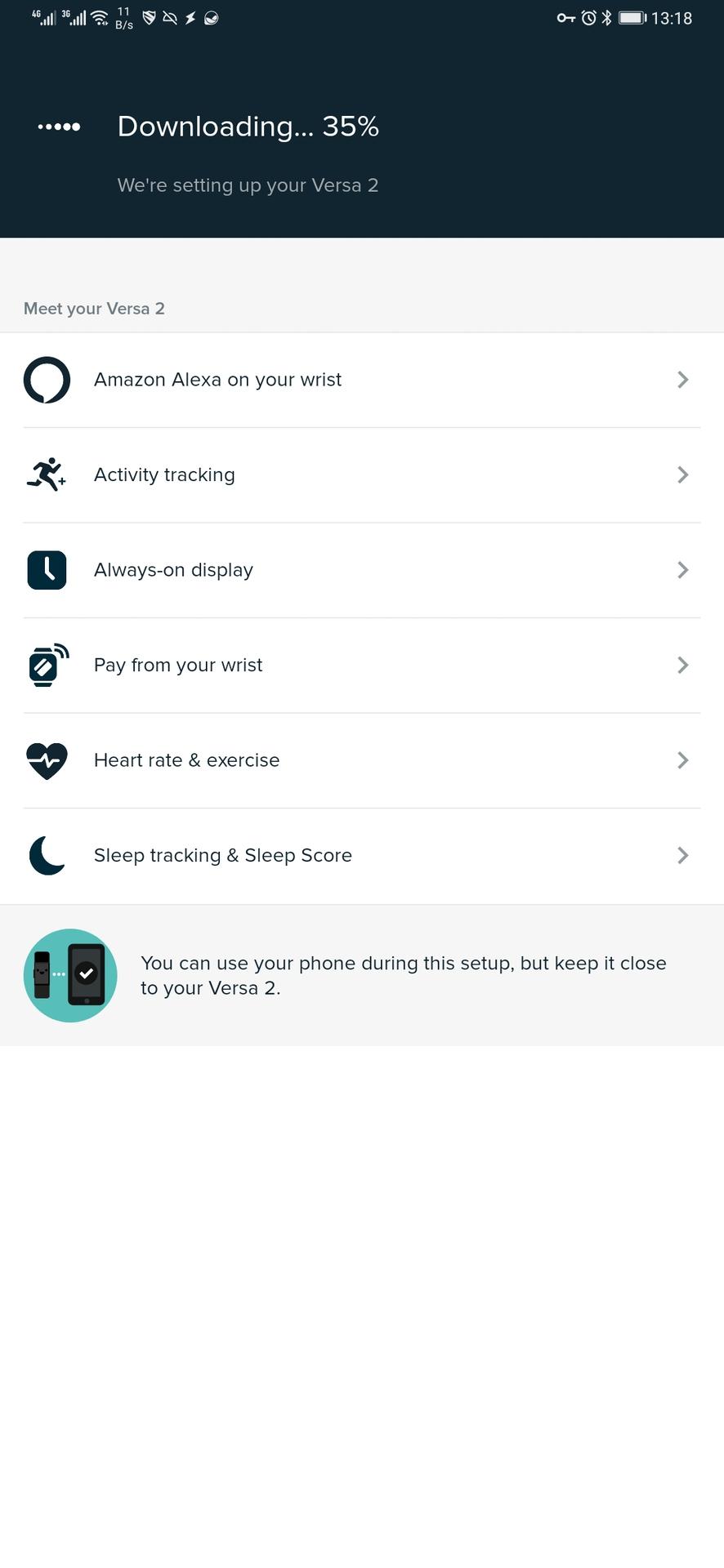 fitbit app updating tracker