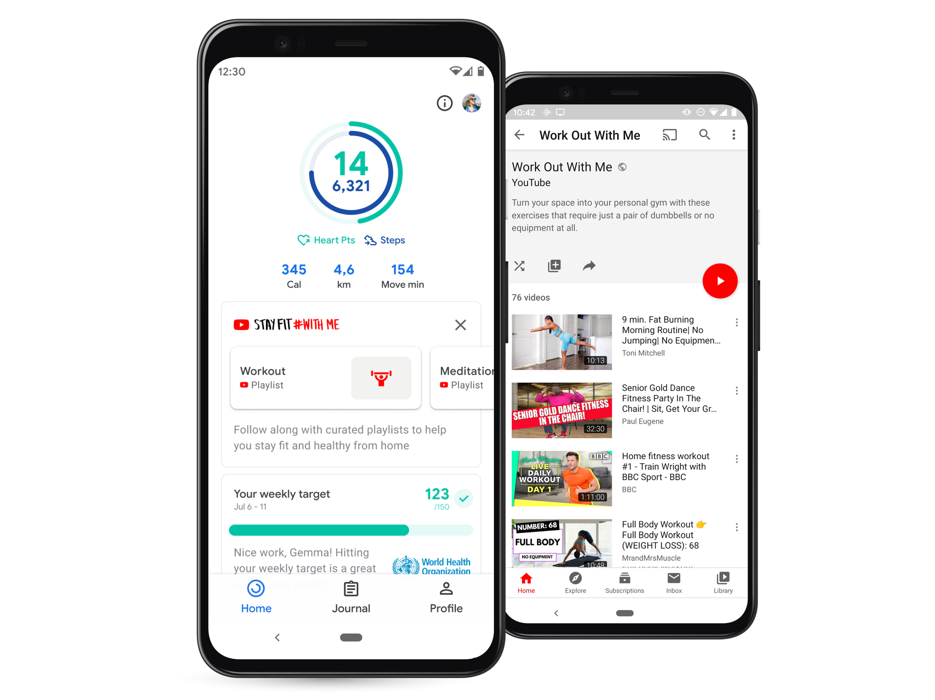 google fit stay fit with me android ios