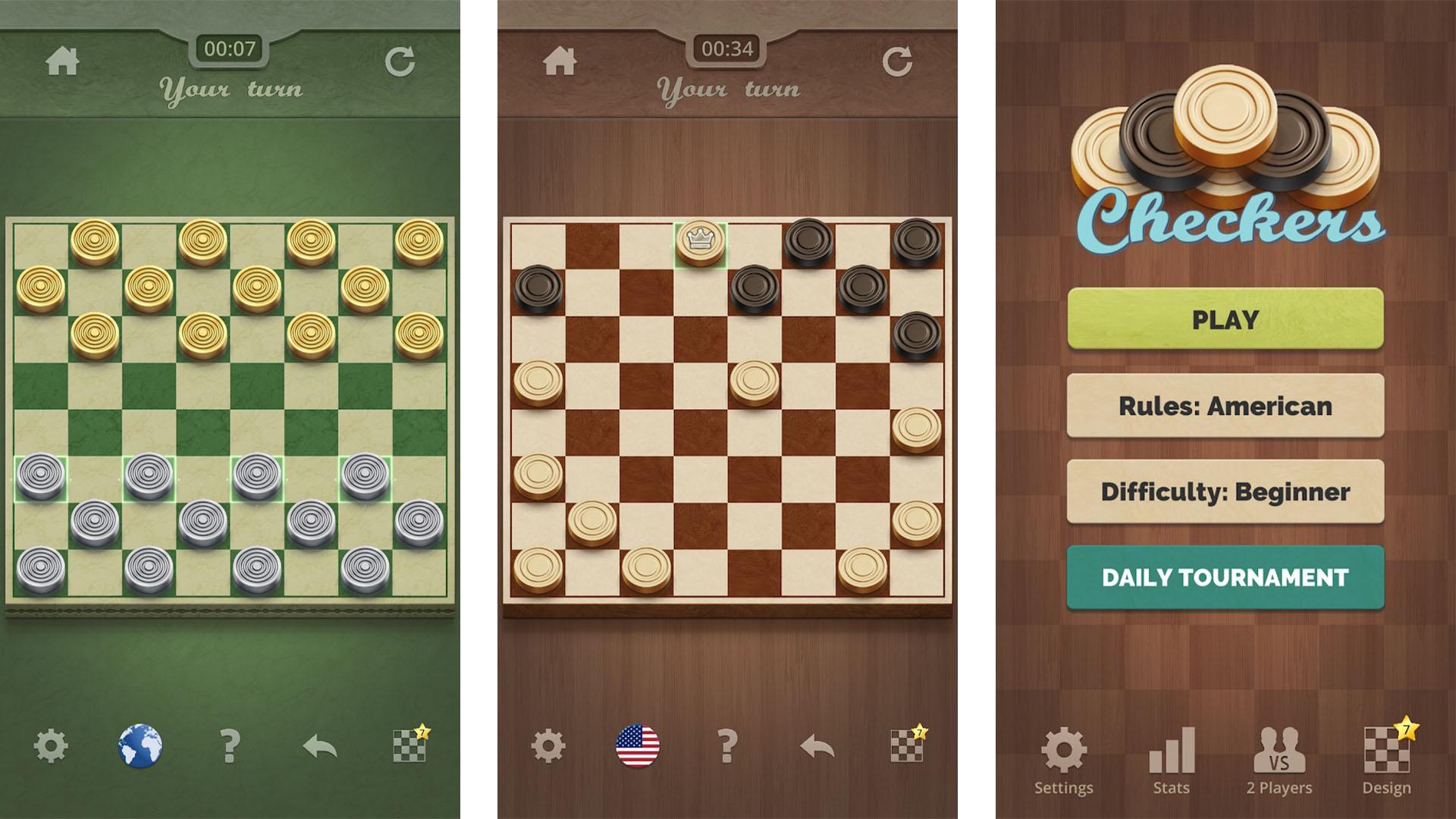 Gamma Play Checkers screenshot