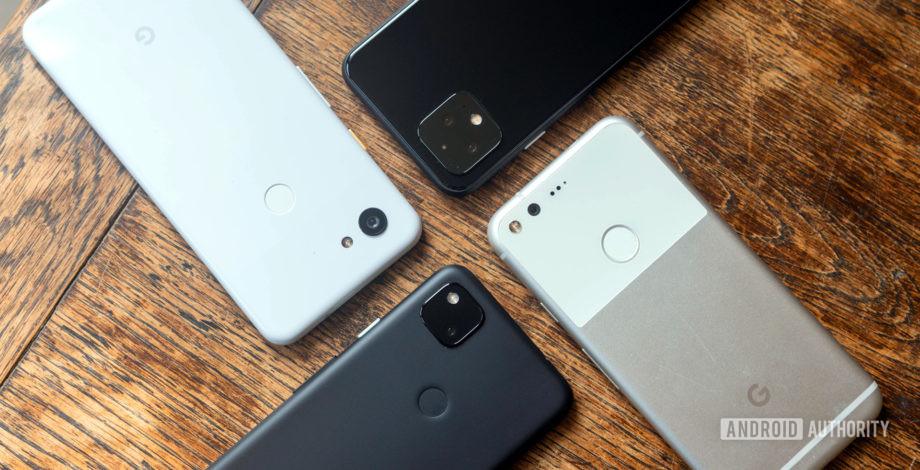 Google Pixel phones side by side 920x470.'