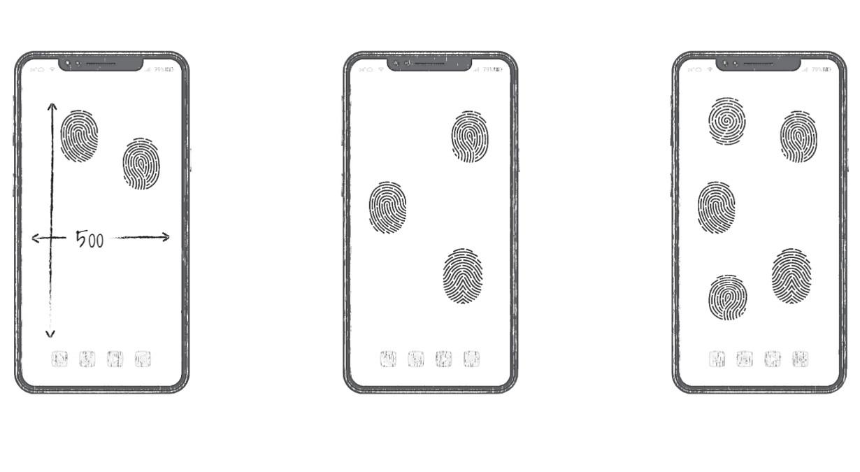 Huawei all screen fingerprint unlock patent