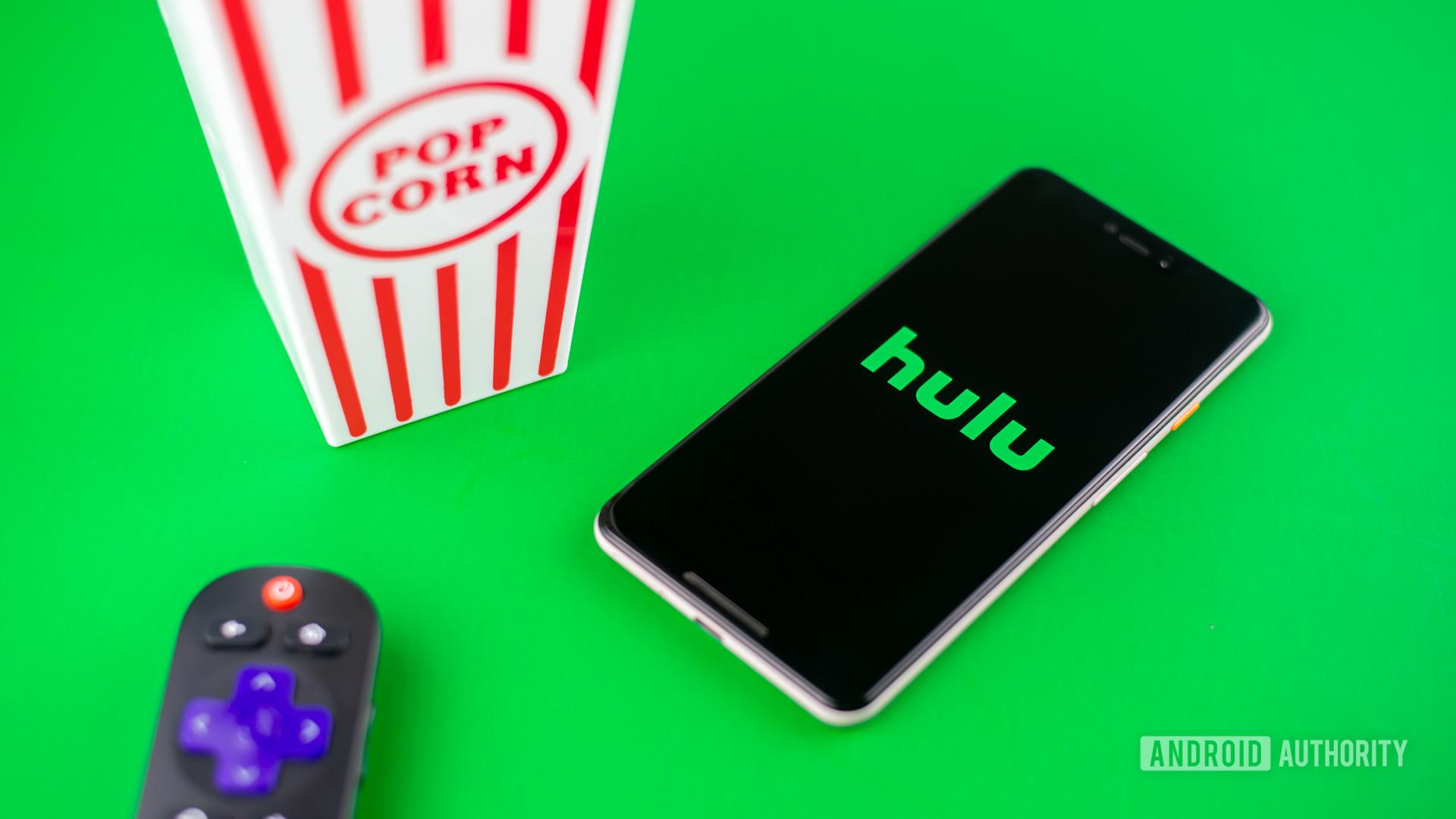 Hulu stock photo green background 1