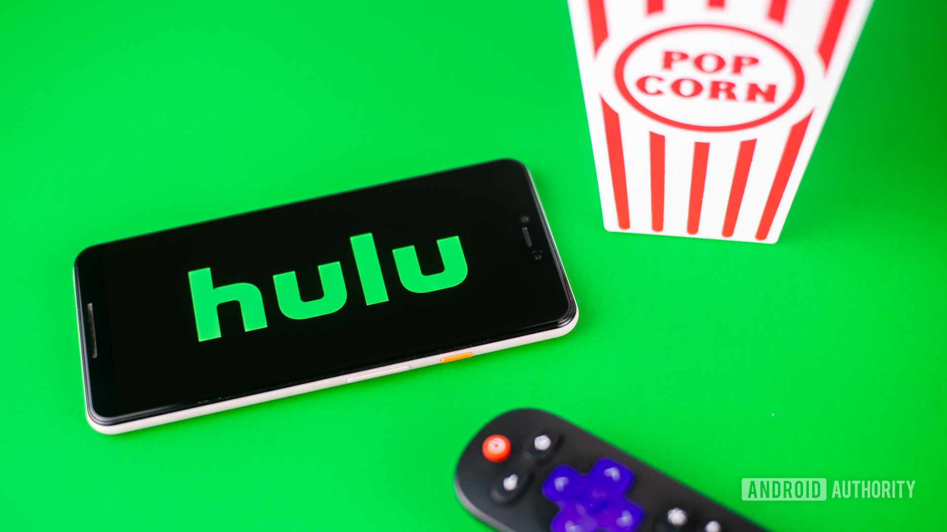 Hulu stock photo green background 2