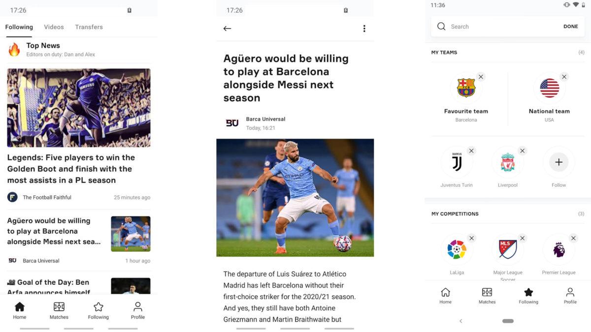 OneFootball screenshot 2021