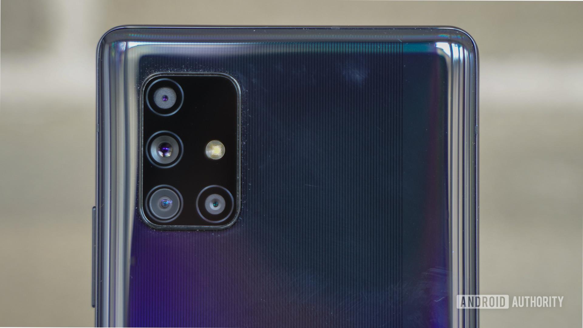 Samsung Galaxy A71 5G camera closeup
