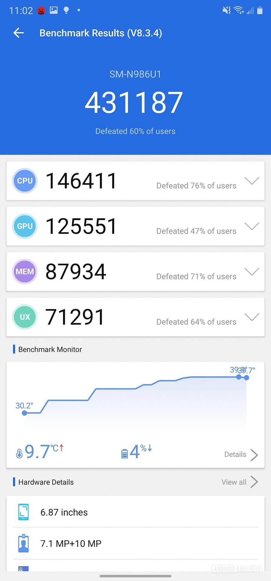 Samsung Galaxy Note 20 Ultra AnTuTu