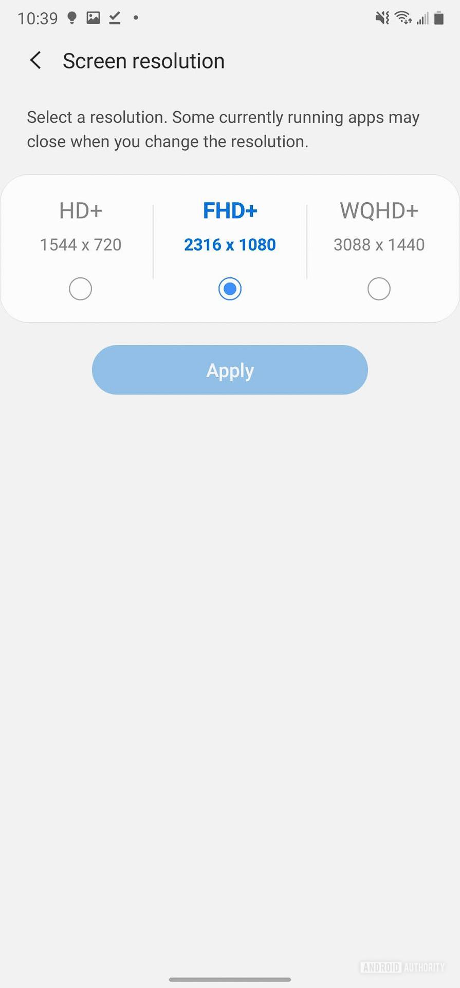 Samsung Galaxy Note 20 Ultra Screen settings 3
