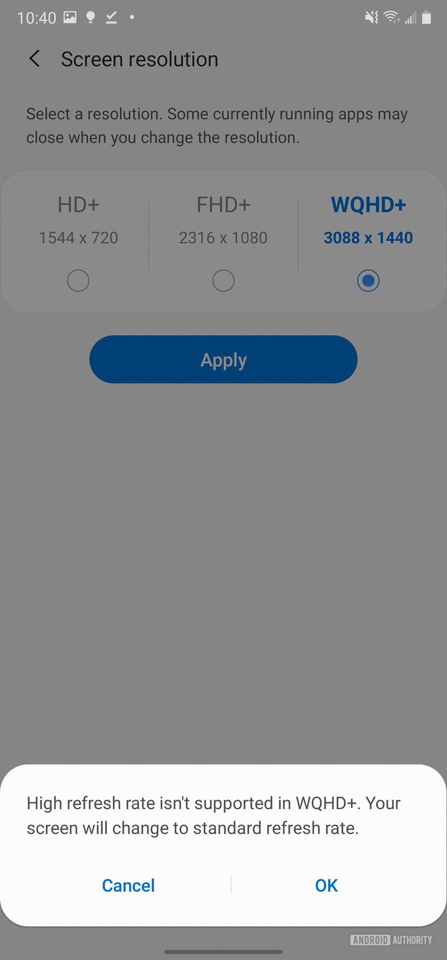 Samsung Galaxy Note 20 Ultra Screen settings 4