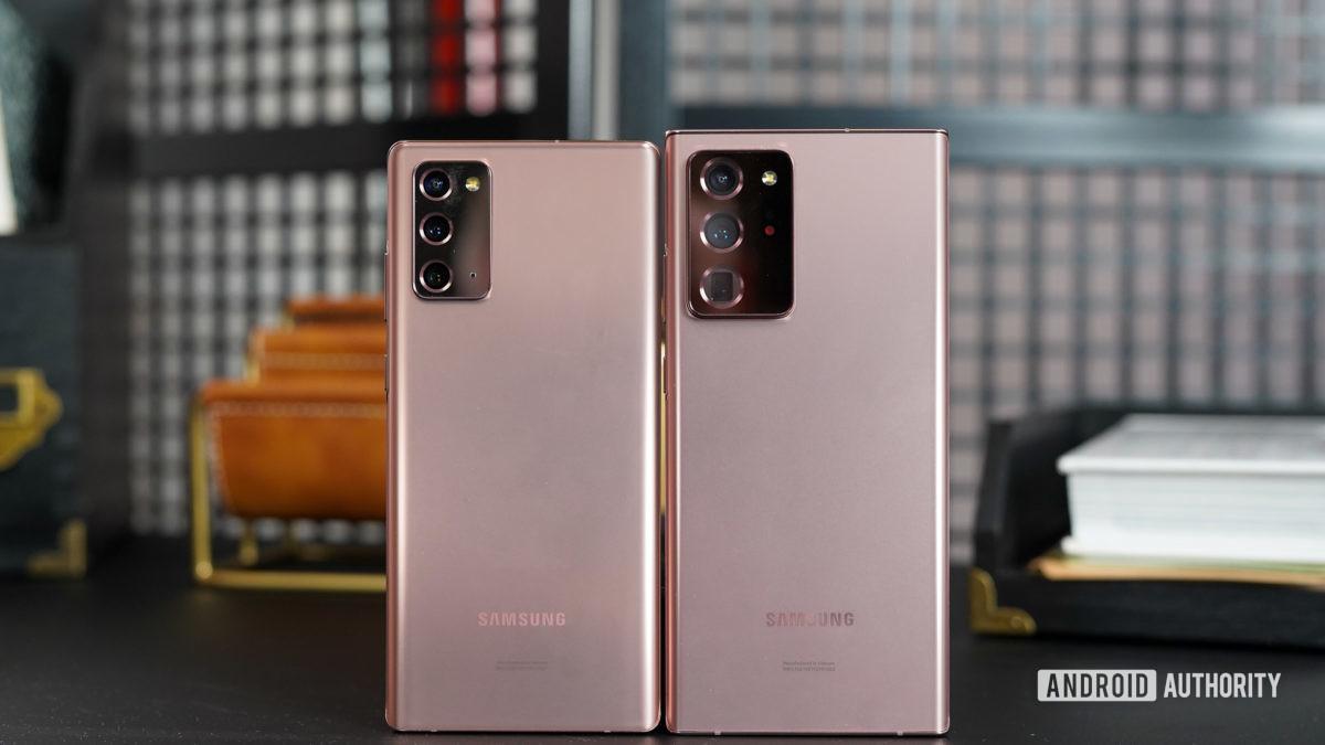 Paneles traseros de Samsung Galaxy Note 20 y Note 20 Ultra