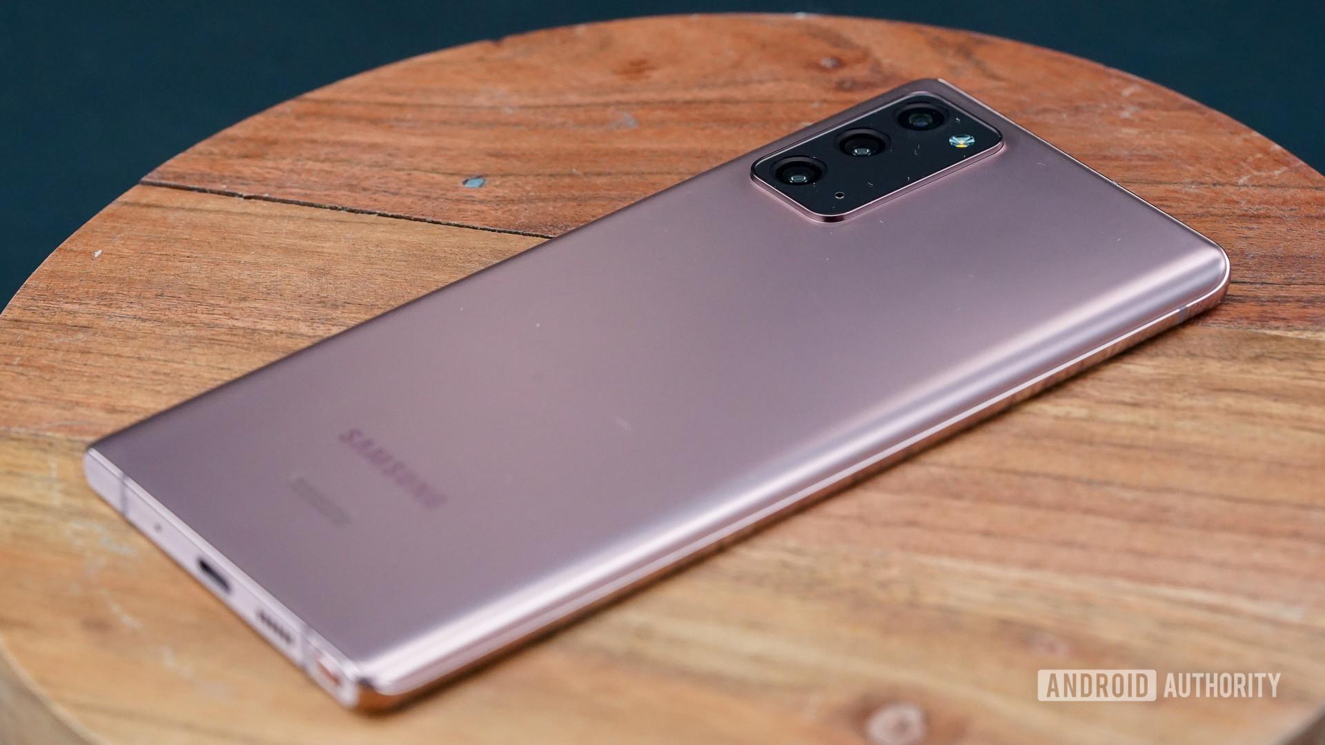 Samsung Galaxy Note 20 right rear profile
